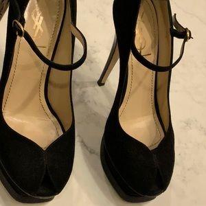 Yves Saint Laurent size 38 black suede